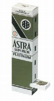 ASTRA-PLATINUM STAINLESS BLADES BOX 100 PCS