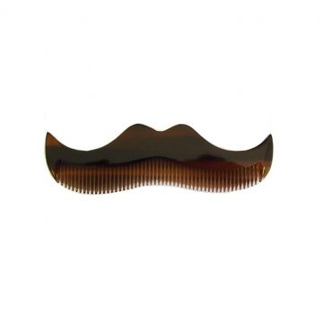 Morgan's Amber Moustache Shaped Comb