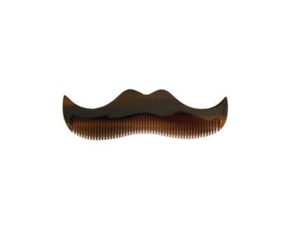 Morgan's Amber Moustache Shaped Comb