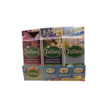 Zoflora Multi-Purpose Concentrated Antibacterial Disinfectant, Multi Surface Cleaning Solution 12 X 120ml