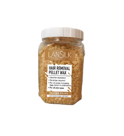 LANSILK HAIR REMOVAL PELLET WAX GOLDEN PEARL L092 500G