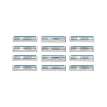 Wilkinson Sword Quattro Titanium Refill Razor Blade Cartridges – Pack of 12