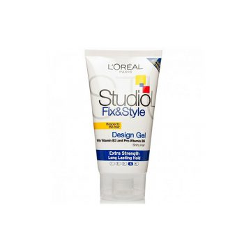 LOreal Studio Line Fix and Style Vitamin Enriched Strong Hold Gel - 150ml