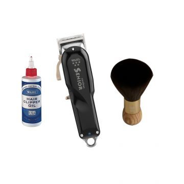 Wahl Cordless Senior Clipper With Wahl Clipper Oil & Nano Absolute Neck Brush G-338