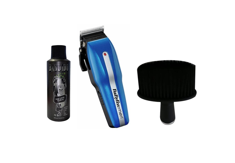 Babyliss Men Power Light Pro 7498CU Hair Clipper With Bandido Clipper Oil & Neck Brush Black G142