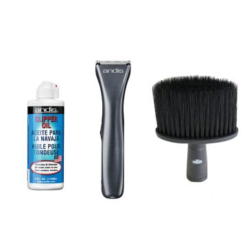ANDIS Brios Cord/Cordless T-Blade Trimmer With Andis Clipper Oil & Nano Absolute Neck Brush G-220